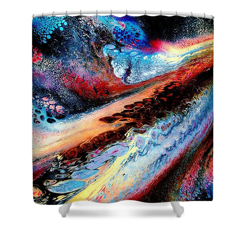 Energy Shower Curtain featuring the painting Powerful Force by Natalie Holland