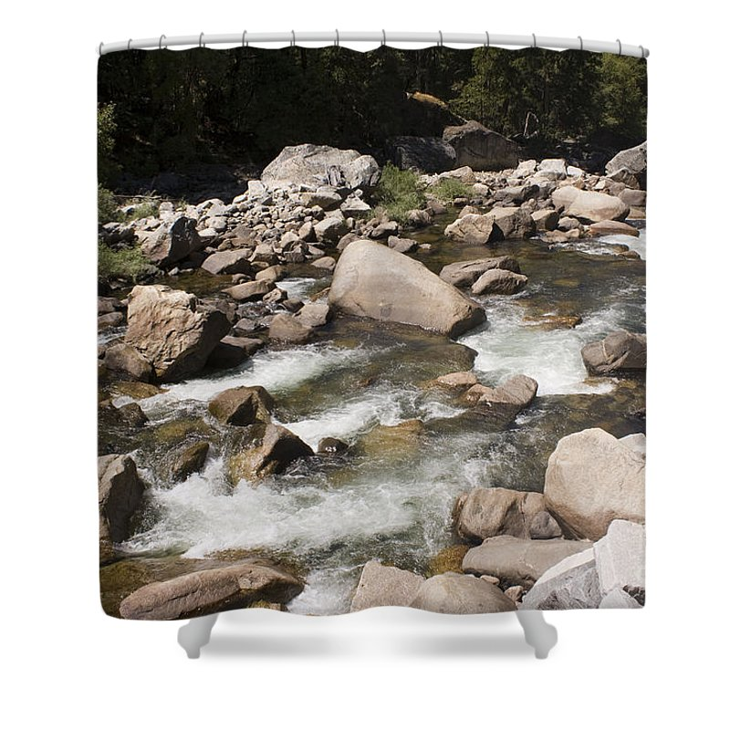 Landscape Shower Curtain featuring the photograph pr 147 - Stony River by Chris Berry