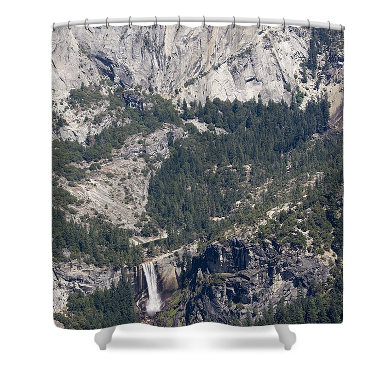 Landscape Shower Curtain featuring the photograph pr 150 - Twin Falls 1 the print by Chris Berry