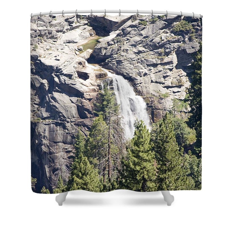Landscape Shower Curtain featuring the photograph pr 151 - Waterfall Rock by Chris Berry