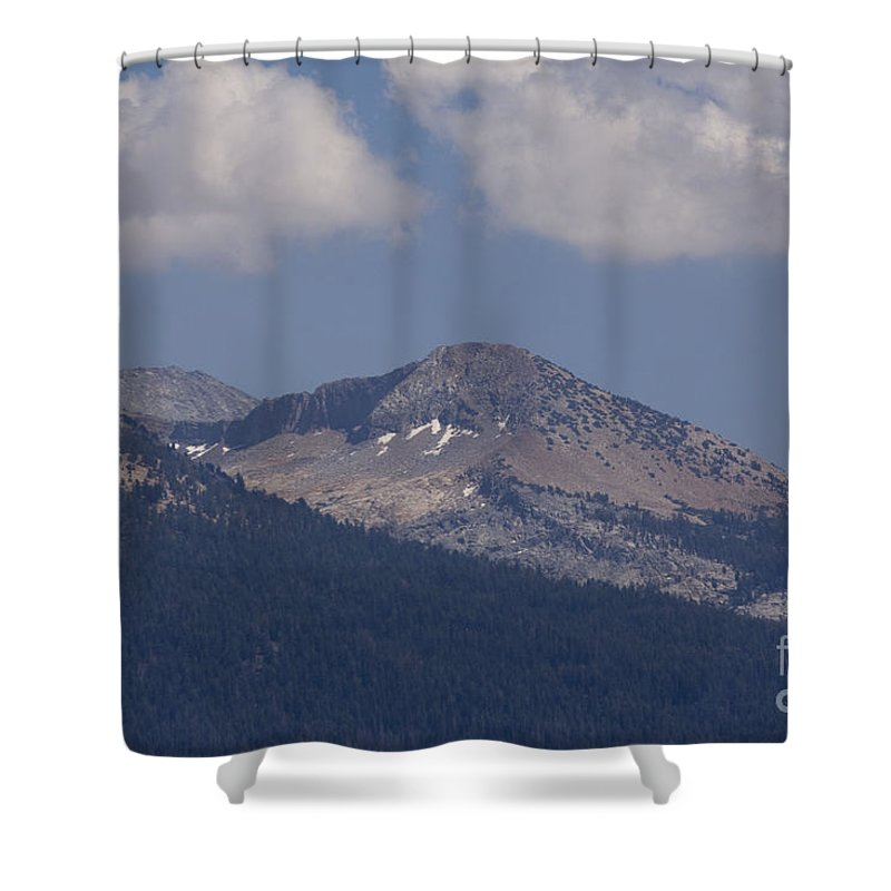 Landscape Shower Curtain featuring the photograph pr 153 - Mountain Glaciers by Chris Berry