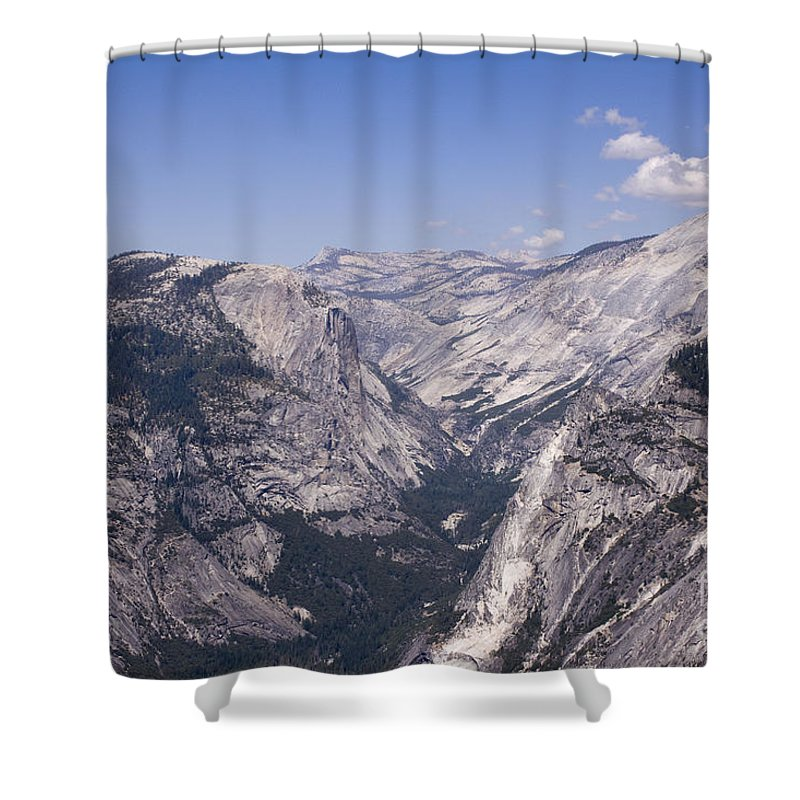 Landscap Shower Curtain featuring the photograph pr 155 - Mountain Stream by Chris Berry