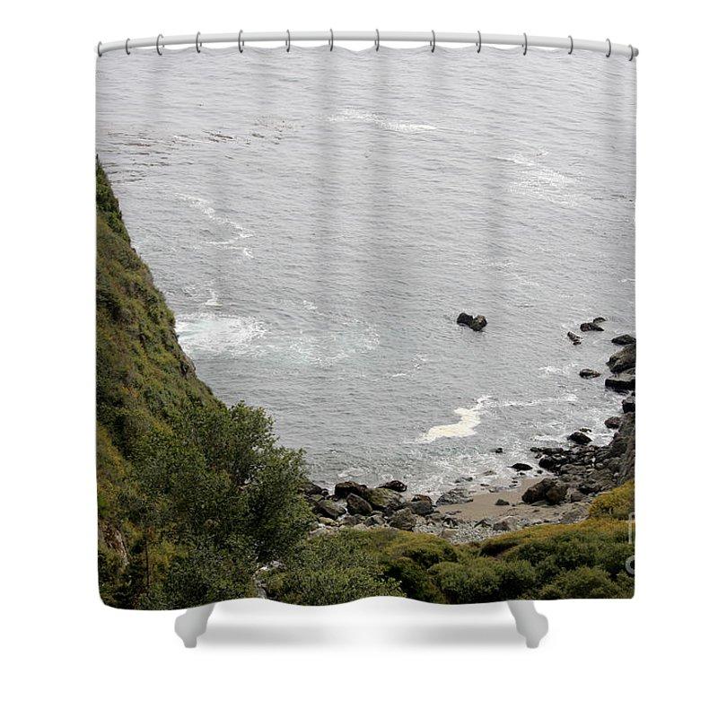 Seascape. Landscape Shower Curtain featuring the photograph pr 166 - Cliffs Of Big Sur by Chris Berry