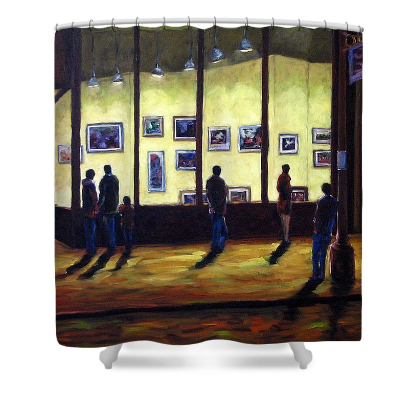 Urban Shower Curtain featuring the painting Pranke by Richard T Pranke