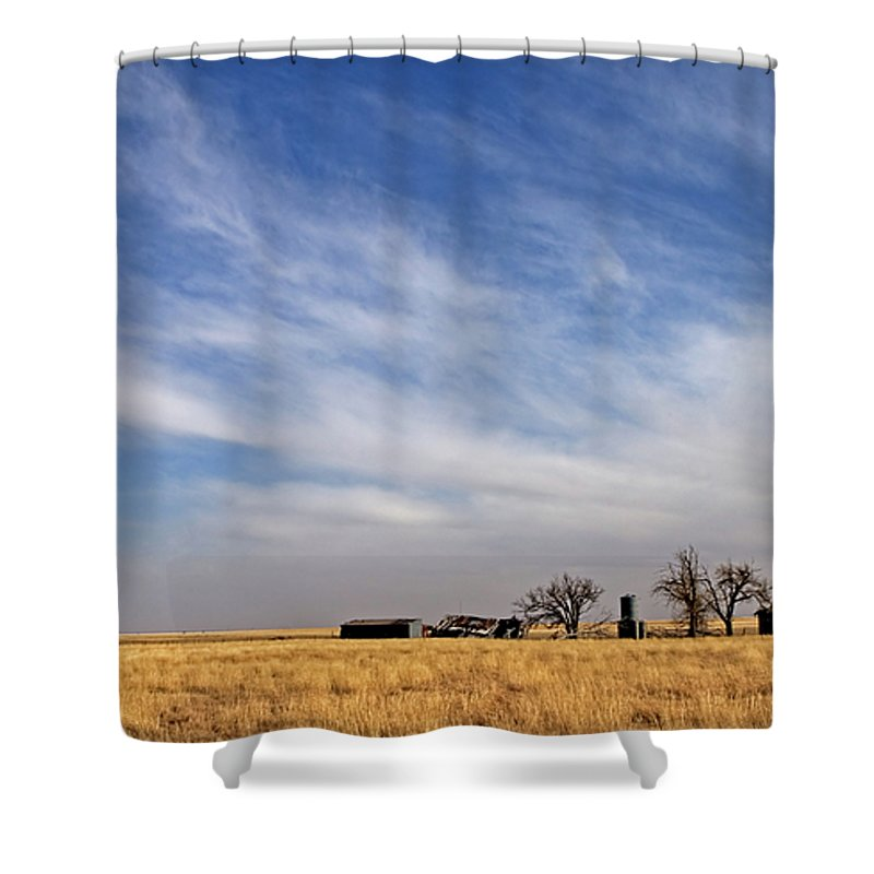 Landscape Shower Curtain featuring the photograph Prarie House by Peter Tellone