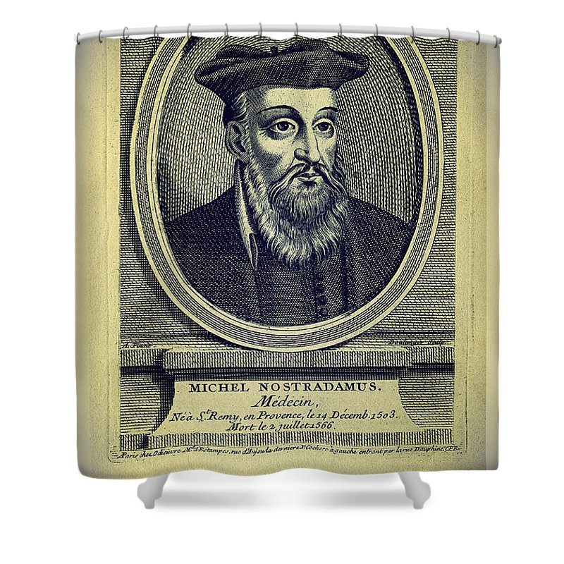 Nostradamus Shower Curtain featuring the digital art Predictions Of Nostradamus 4 by Binka Kirova