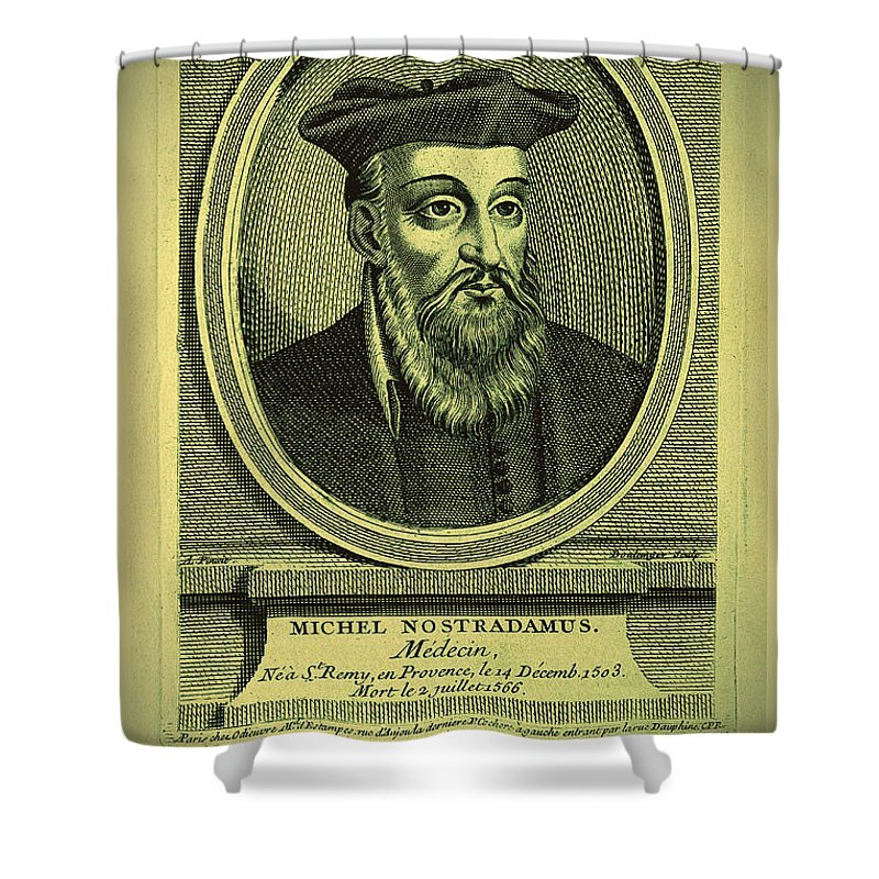 Nostradamus Shower Curtain featuring the digital art Predictions Of Nostradamus 2 by Binka Kirova