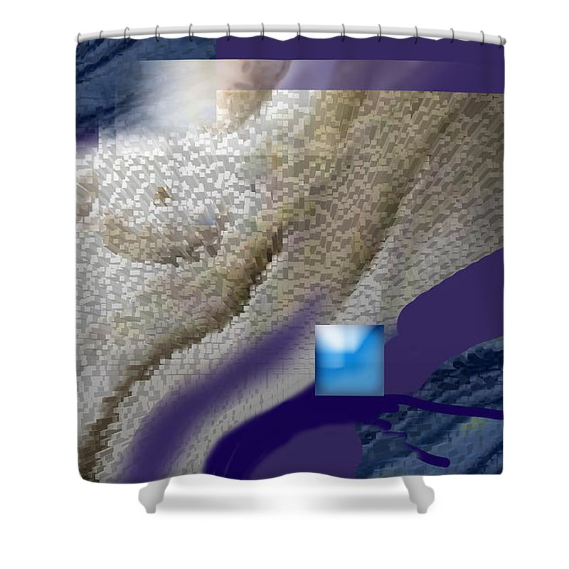 Abstract Shower Curtain featuring the digital art Prelude To A Dream by Steve Karol