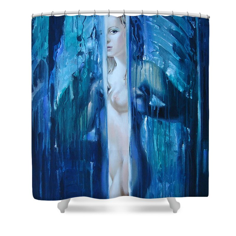 Ignatenko Shower Curtain featuring the painting Presence by Sergey Ignatenko