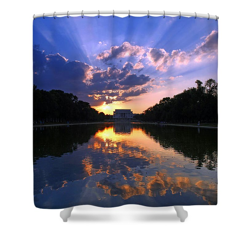 Lincoln Memorial Shower Curtains