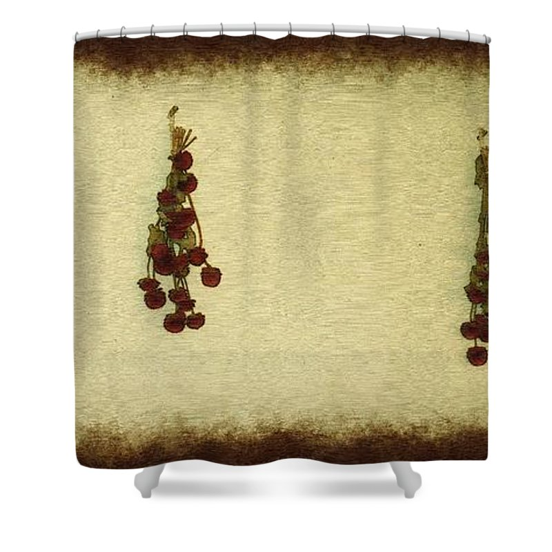 Armeria Shower Curtain featuring the painting Preserving Beauty by RC DeWinter
