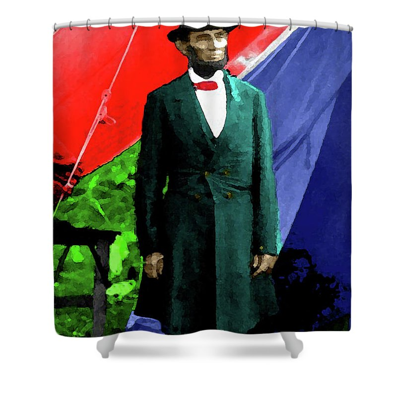 Lincoln Shower Curtain featuring the photograph President Lincoln by Jost Houk