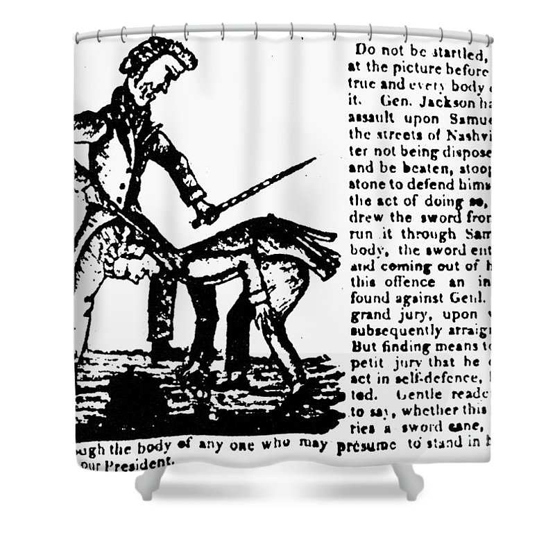 1828 Shower Curtain featuring the photograph Presidential Campaign, 1828 by Granger
