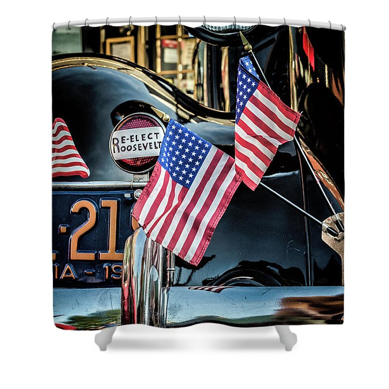 Auto Shower Curtain featuring the photograph Presidential Car by Jim Love
