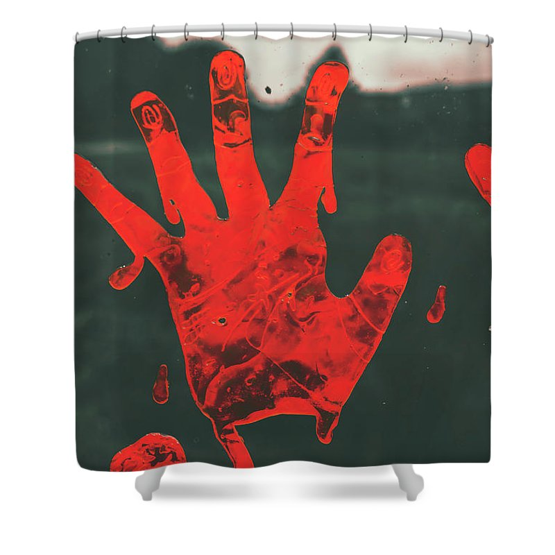 Fear Shower Curtain featuring the photograph Pressing Terror by Jorgo Photography - Wall Art Gallery