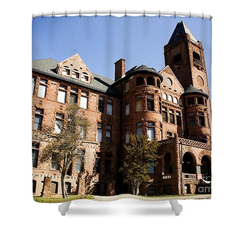 California History Shower Curtain featuring the photograph Preston Castle by Norman Andrus