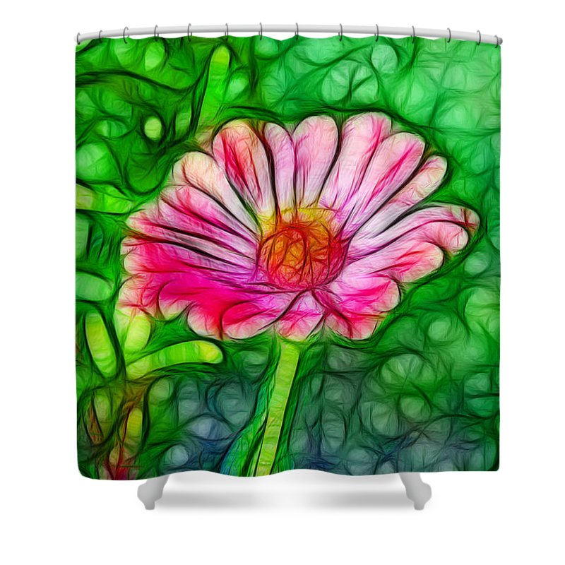 Flower Shower Curtain featuring the photograph Pretty Flower by Lisa Stanley