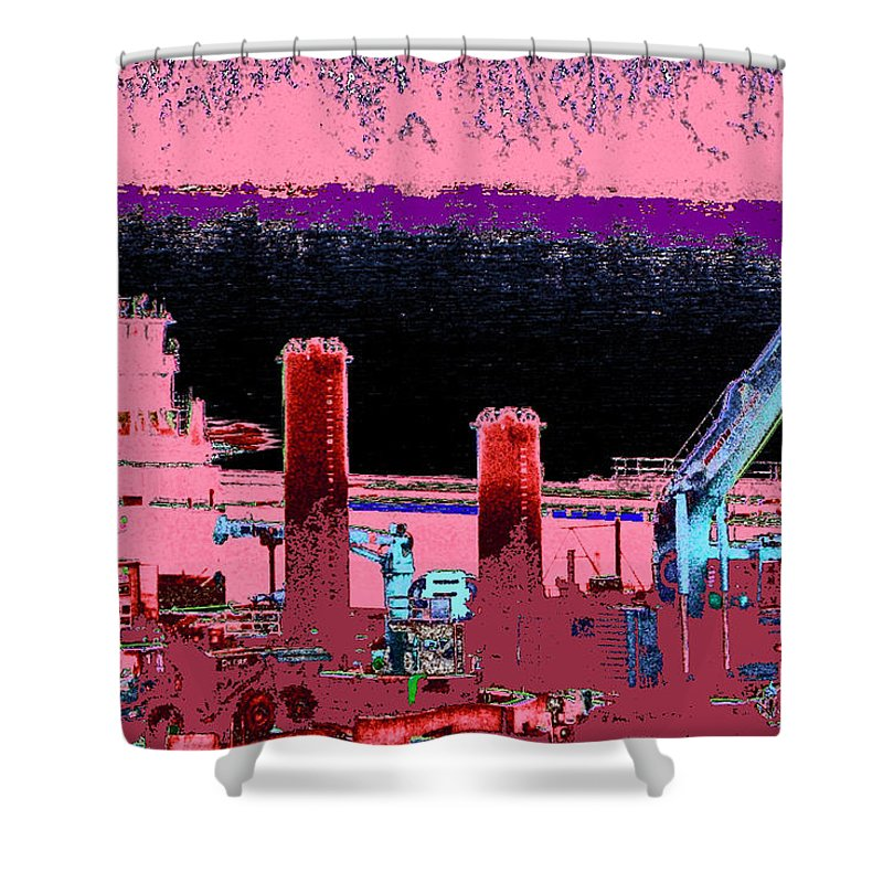 Abstract Shower Curtain featuring the photograph Pretty In Pink by Rachel Christine Nowicki