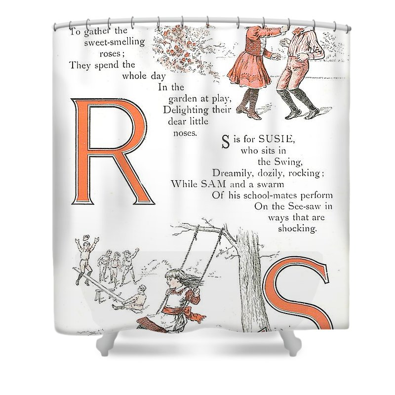 The Wurtherington Diary Shower Curtain Featuring Painting Pretty Name Abc R And S By Reynold