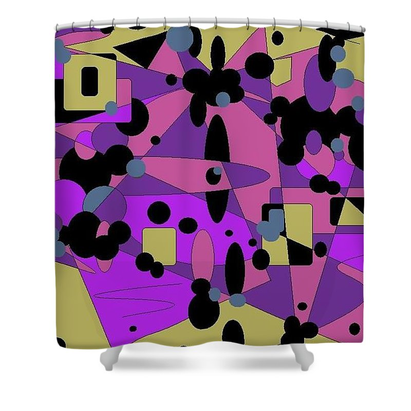 Digital Abstract Shower Curtain featuring the digital art Pretty Picture by Jordana Sands