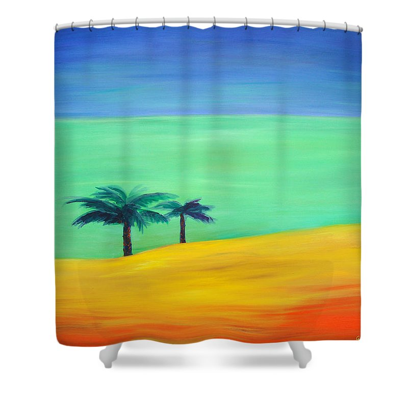 Blue Shower Curtain featuring the painting Pretty Simple by Gina De Gorna
