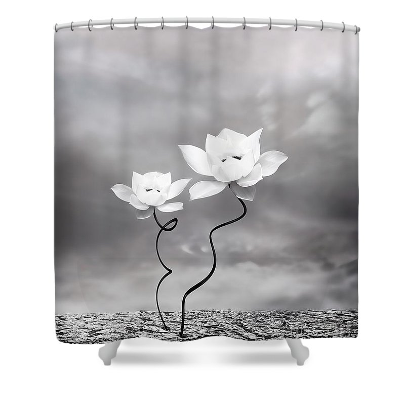 Surreal Shower Curtain featuring the photograph Prevail by Jacky Gerritsen