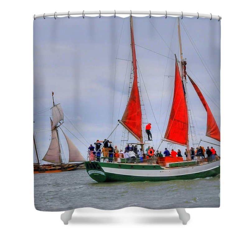 Boat Shower Curtain featuring the photograph Pride And Spirit by Kathleen Struckle