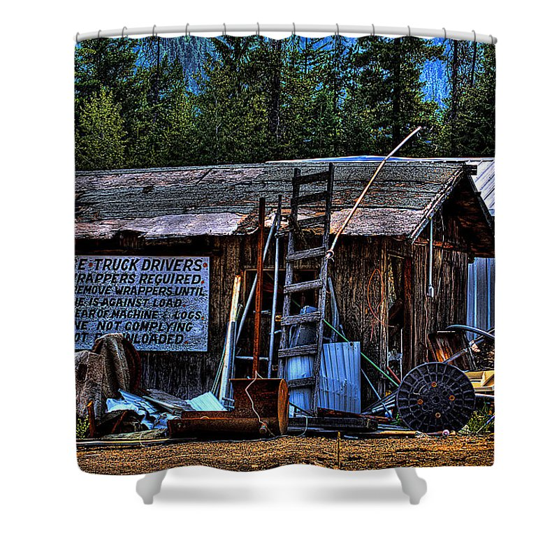 Mill Shower Curtain featuring the photograph Priest Lake Lumber Mill by David Patterson