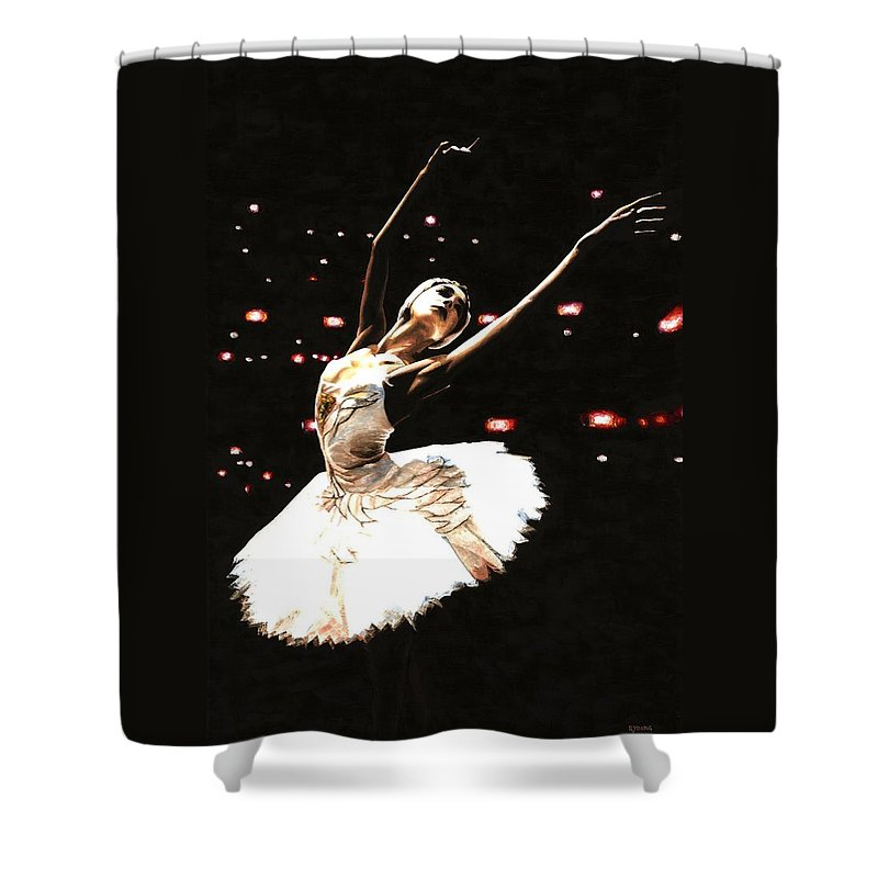 Prima Ballerina Shower Curtain featuring the painting Prima Ballerina by Richard Young