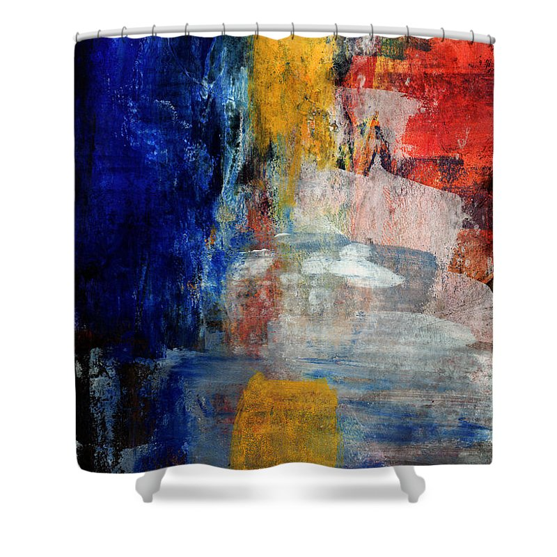 Office Decor Mixed Media Shower Curtains