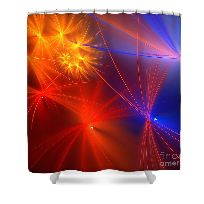 Apophysis Shower Curtain featuring the digital art Primary Wishes by Kim Sy Ok