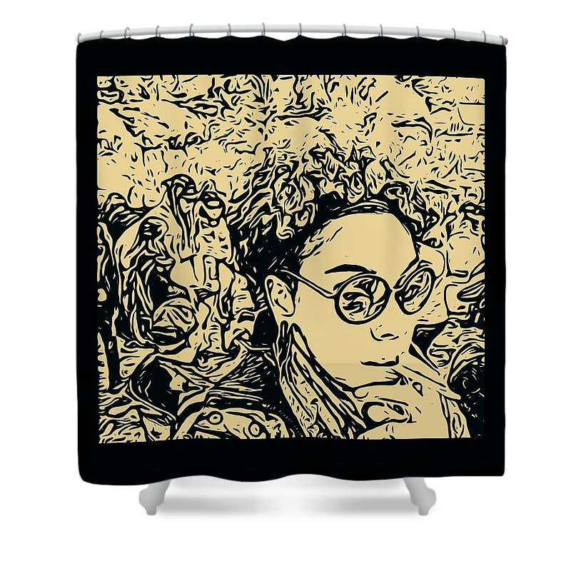 Art Shower Curtain featuring the photograph Prince Of Darkness by Ryan Fox