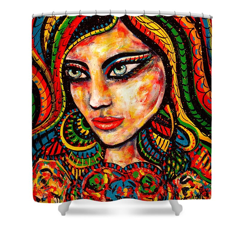 Romance Shower Curtain featuring the painting Princess Of Desire by Natalie Holland
