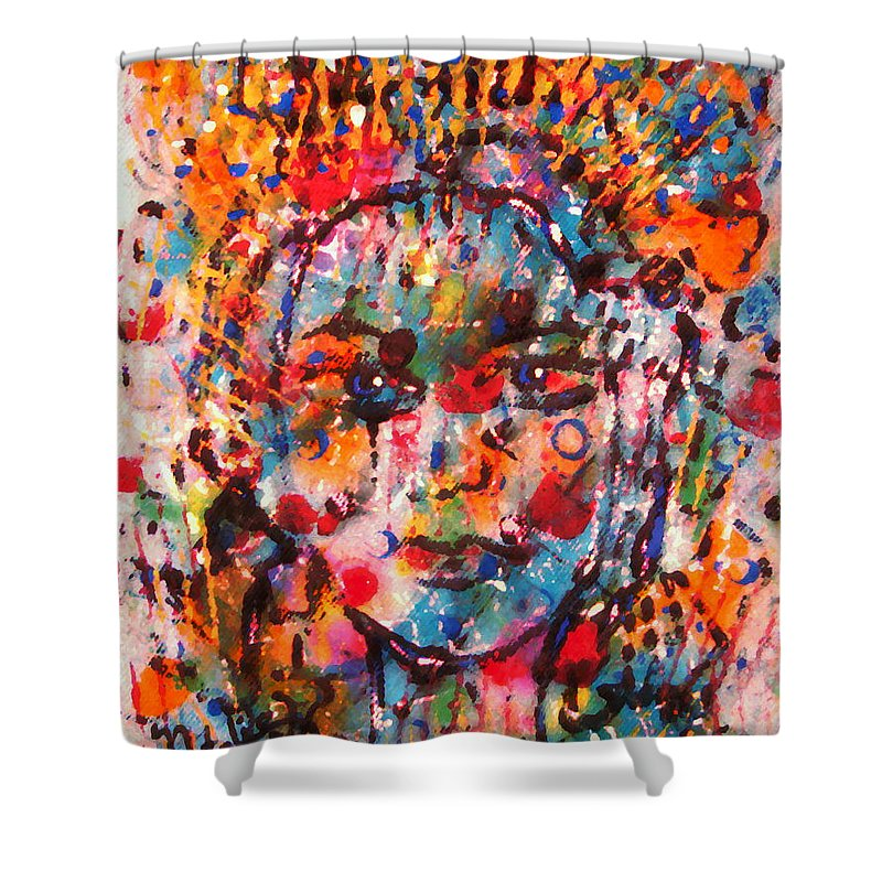 Happiness Shower Curtain featuring the painting Princess Of Happiness by Natalie Holland
