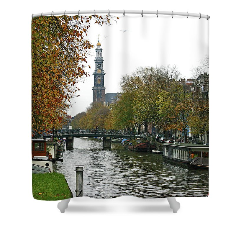 Prinzengracht Shower Curtain featuring the photograph Prinzengracht by Brian Wissinger