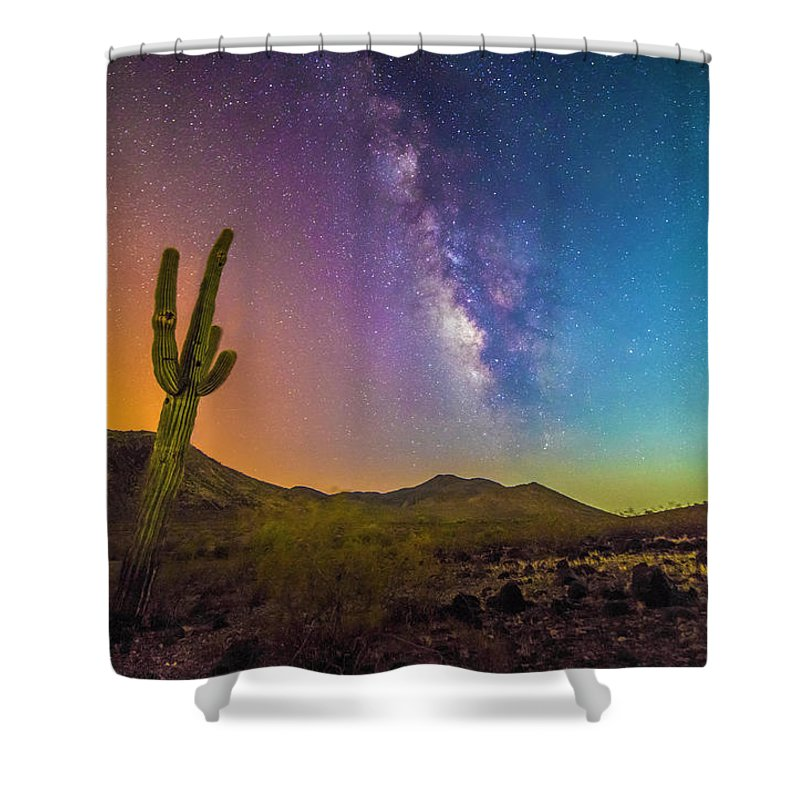 Space Shower Curtain featuring the photograph Prism by Marc Leatham