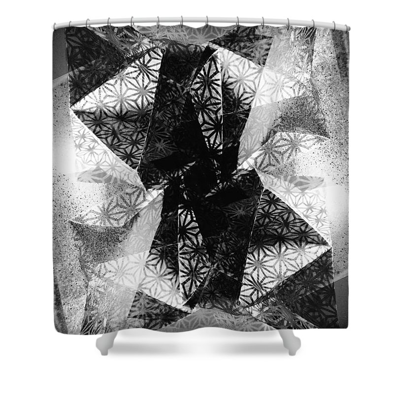 Paper Shower Curtain featuring the photograph Prismatic Vision - Black And White by Shawna Rowe