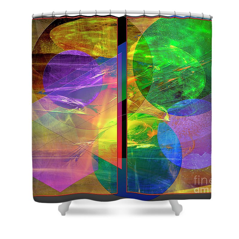 Progressive Intervention Shower Curtain featuring the digital art Progressive Intervention by John Beck