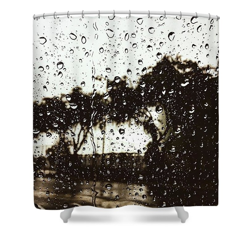 Rain Shower Curtain featuring the photograph Promises by Leah McPhail