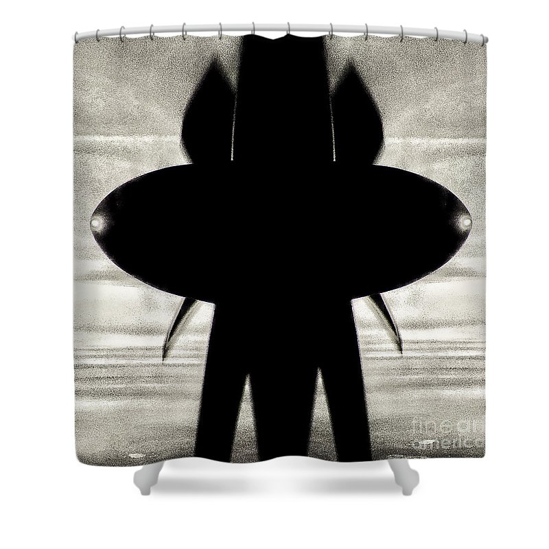 Propeller Shower Curtain featuring the photograph Propeller Abstract by Mariusz Sprawnik