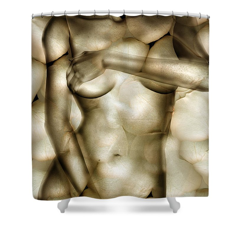 Woman Shower Curtain featuring the photograph Protected by Jacky Gerritsen