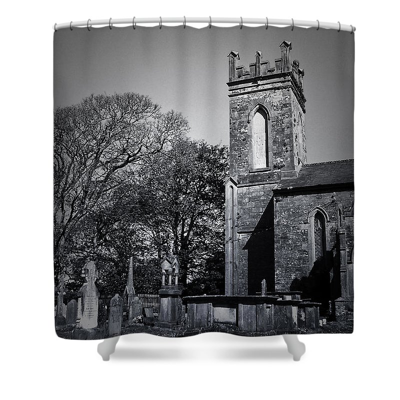 Irish Shower Curtain featuring the photograph Protestant Church Macroom Ireland by Teresa Mucha