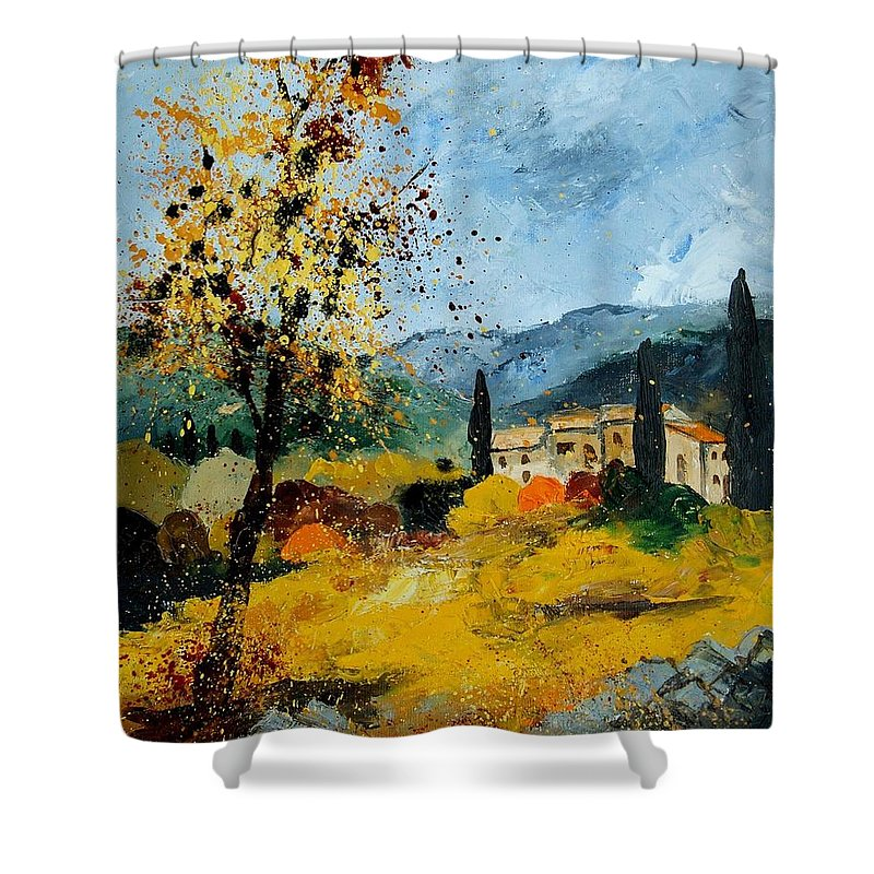 Provence Shower Curtain featuring the painting Provence 45 by Pol Ledent