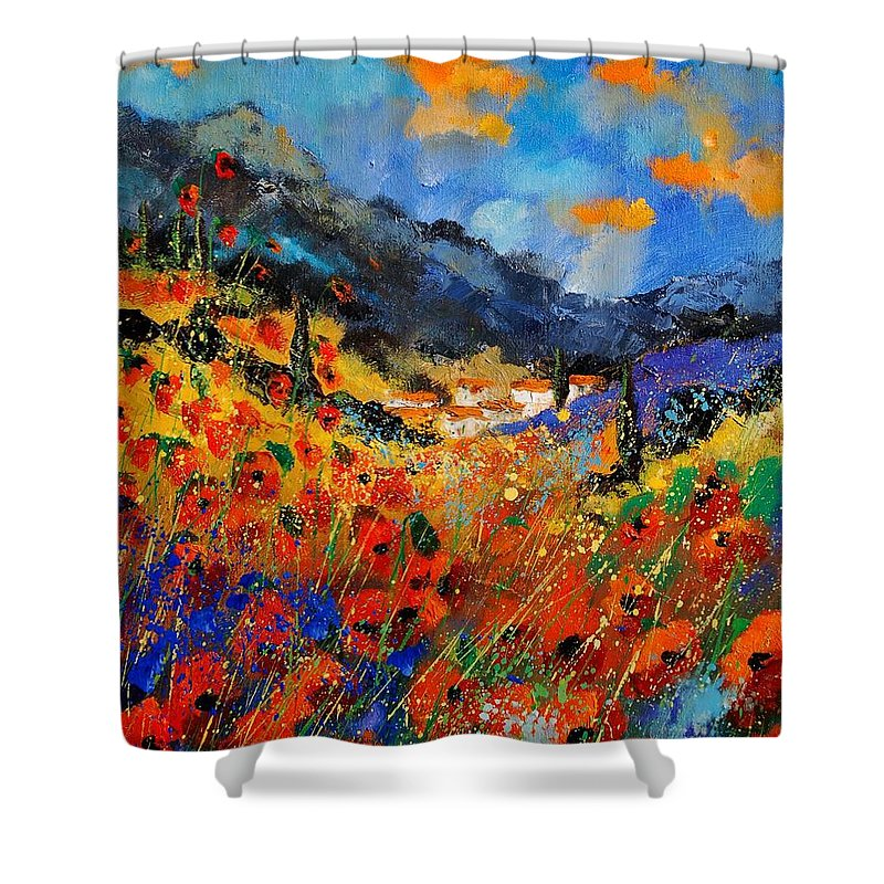 Shower Curtain featuring the painting Provence 459020 by Pol Ledent