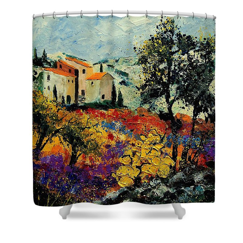 Provence Shower Curtain featuring the painting Provence 56900192 by Pol Ledent