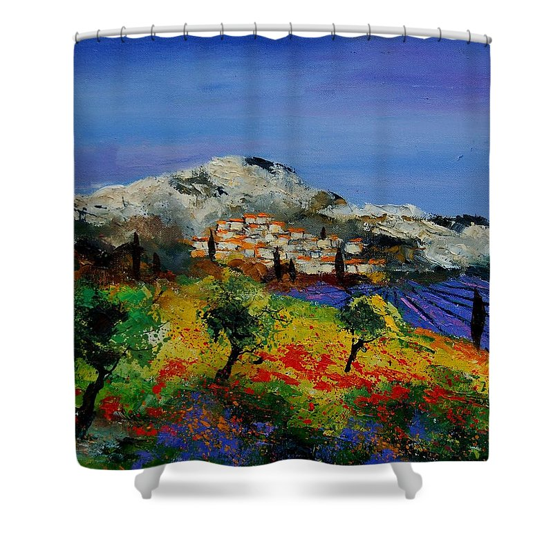 Provence Shower Curtain featuring the painting Provence 569010 by Pol Ledent