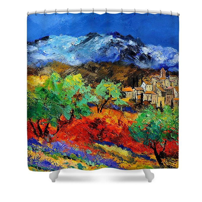 Landscape Shower Curtain featuring the painting Provence 790050 by Pol Ledent