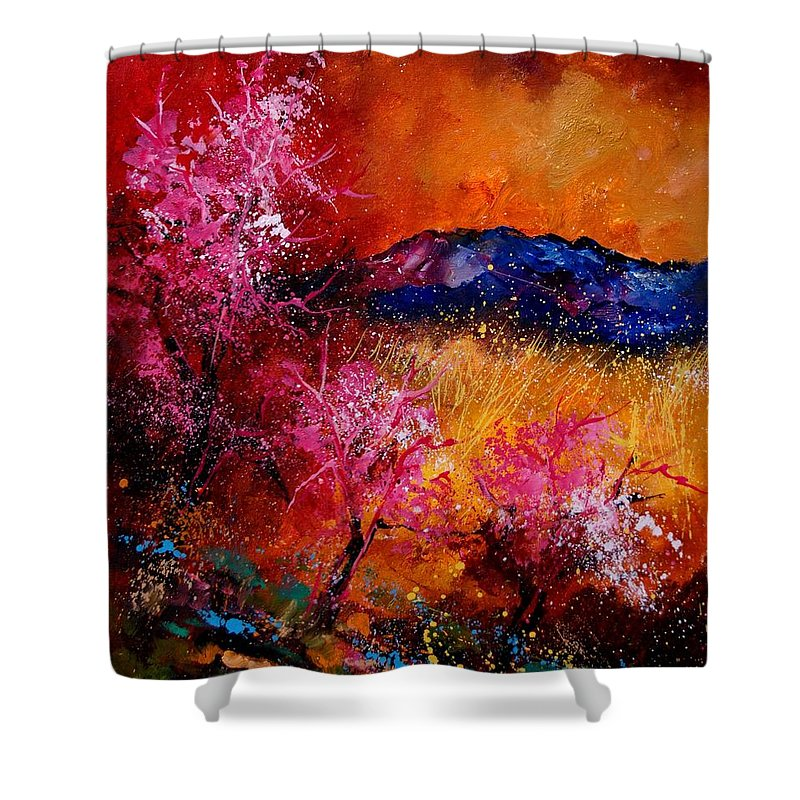 Provence Shower Curtain featuring the painting Provence560908 by Pol Ledent