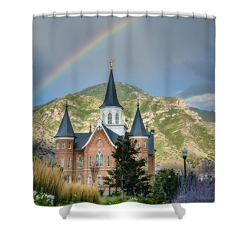 Provo Utah Temple Shower Curtain featuring the photograph Provo Temple Fairy Tale by La Rae Roberts