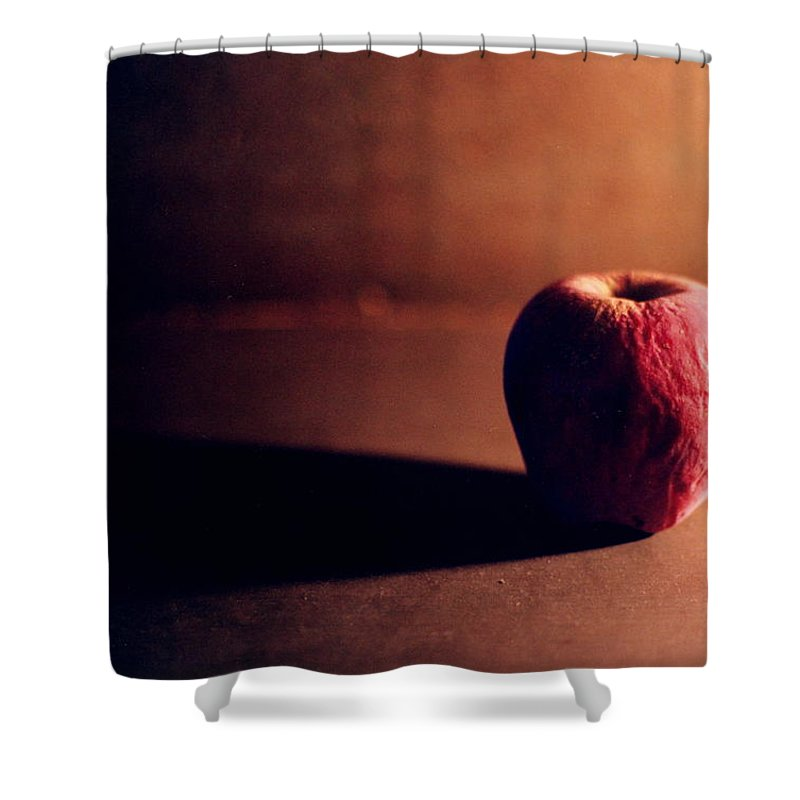 Shriveled Shower Curtain featuring the photograph Pruned Apple Still Life by Michelle Calkins
